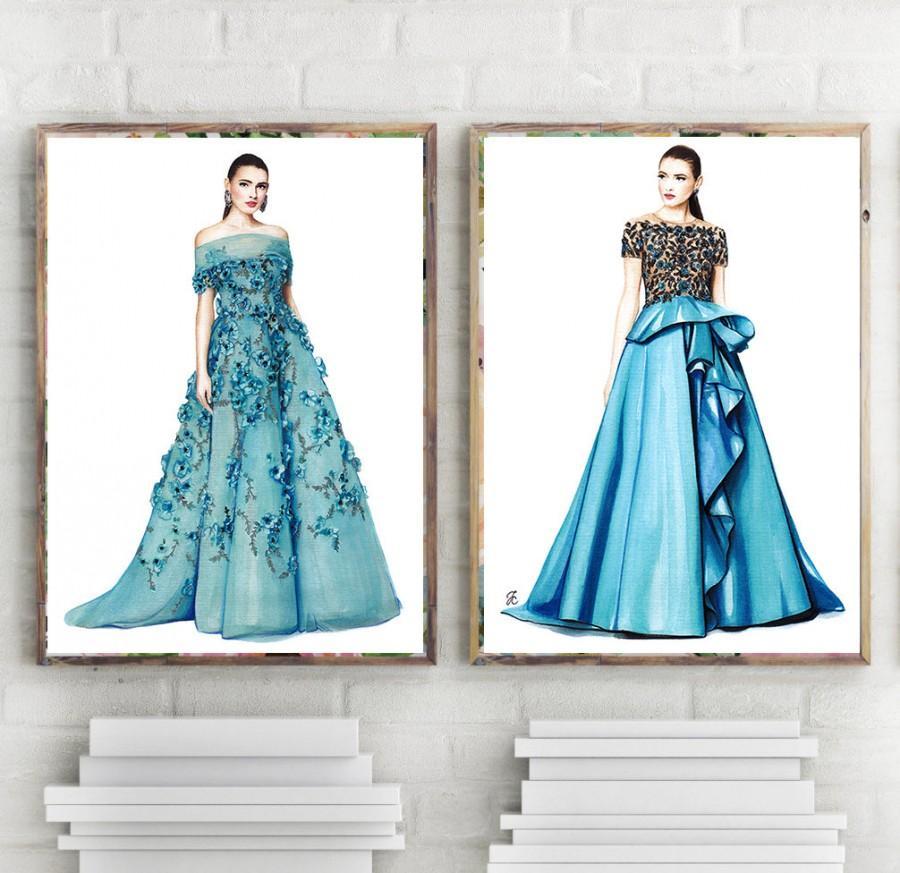 Marchesa Illustration Fashion Girl Art Fashion Design Sketch Fashion Illustration Fashion Sketch Fashion Girls Marchesa Dress 2731168 Weddbook