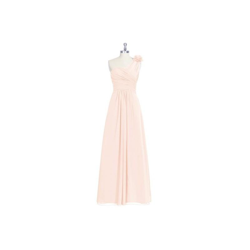 Свадьба - Pearl_pink Azazie Erica - Chiffon One Shoulder Floor Length Strap Detail Dress - Charming Bridesmaids Store