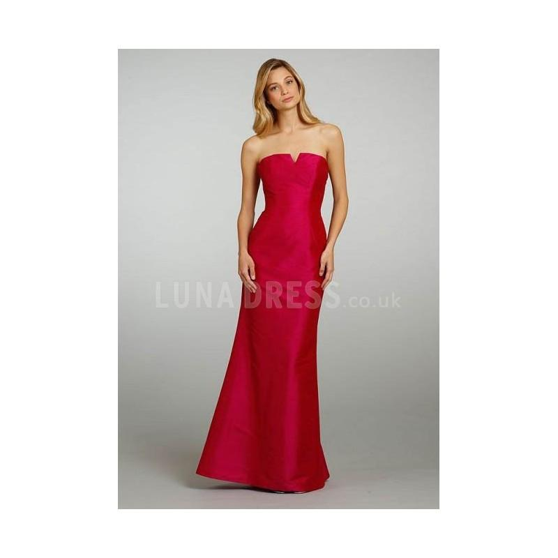 Mariage - Strapless Fit N Flare Backless Taffeta Sleeveless Winter Bridesmaids Dresses - Compelling Wedding Dresses