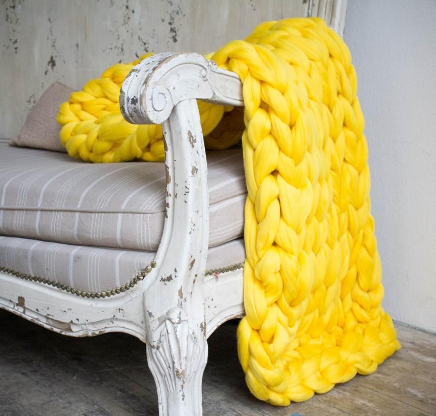 Hochzeit - Chunky blanket. Large blanket. Giant knit. Chunky knit blanket. Giant knit blanket. Merino wool.