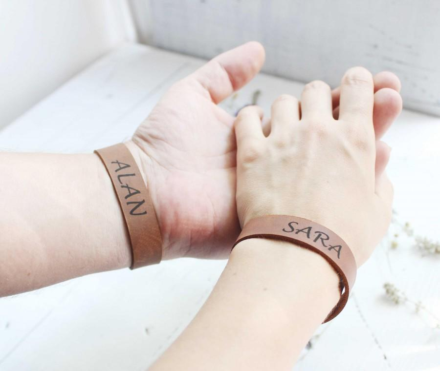 couples bracelet leather bracelet unique wedding gifts