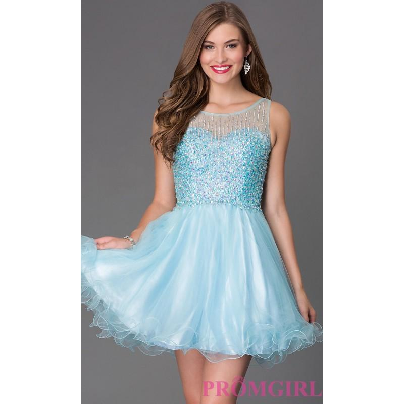 Mariage - Short Sleeveless Dress with Jewel Embellished Bodice GS2158 - Brand Prom Dresses