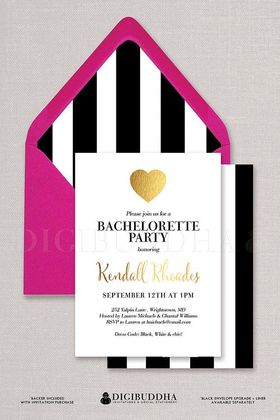 black and white party invitations free