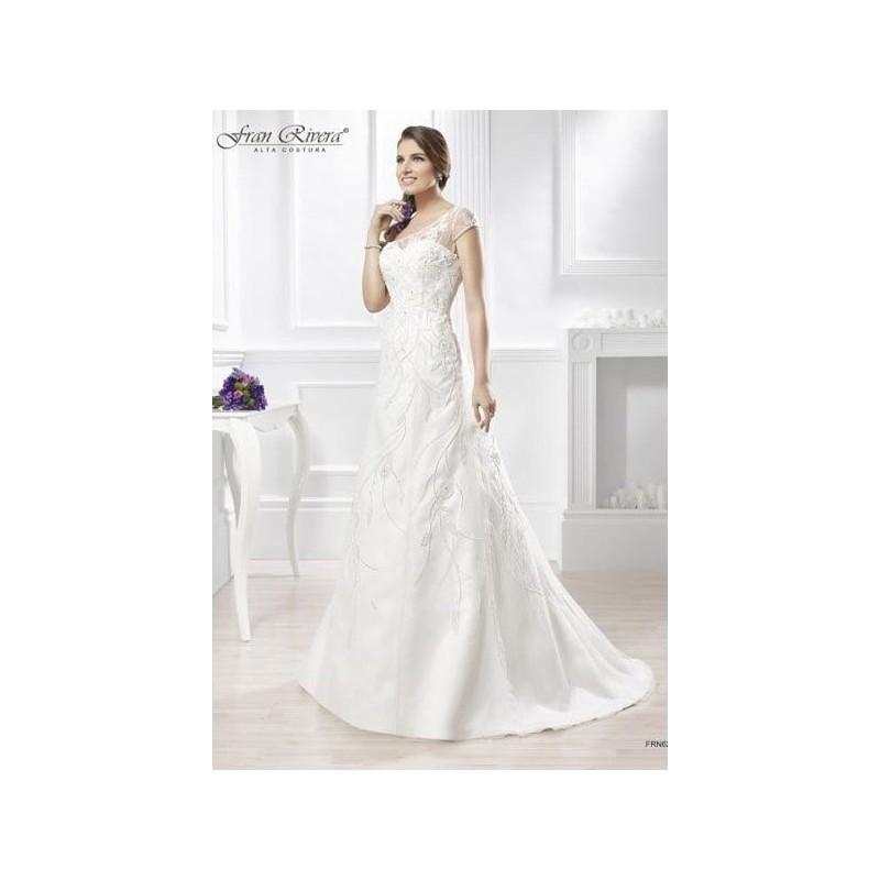 Wedding - Vestido de novia de Fran Rivera Alta Costura Modelo FRN620 - 2015 Sirena Barco Vestido - Tienda nupcial con estilo del cordón