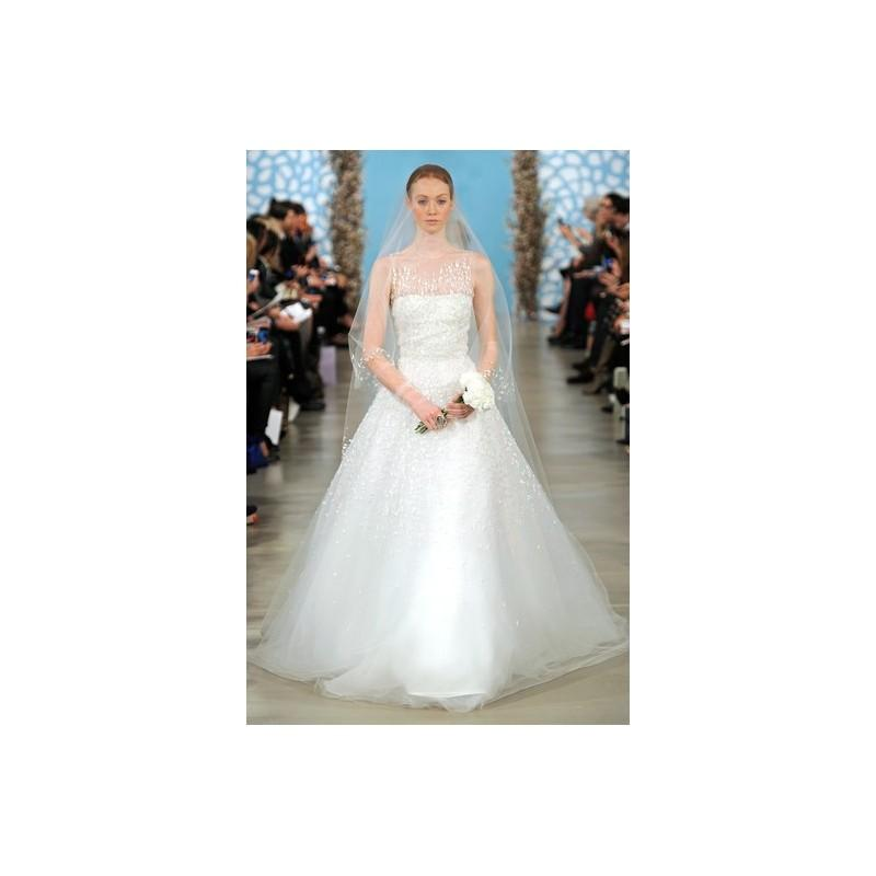 Mariage - Oscar de la Renta SP14 Dress 21 - Spring 2014 Full Length Ball Gown Oscar de la Renta High-Neck White - Nonmiss One Wedding Store