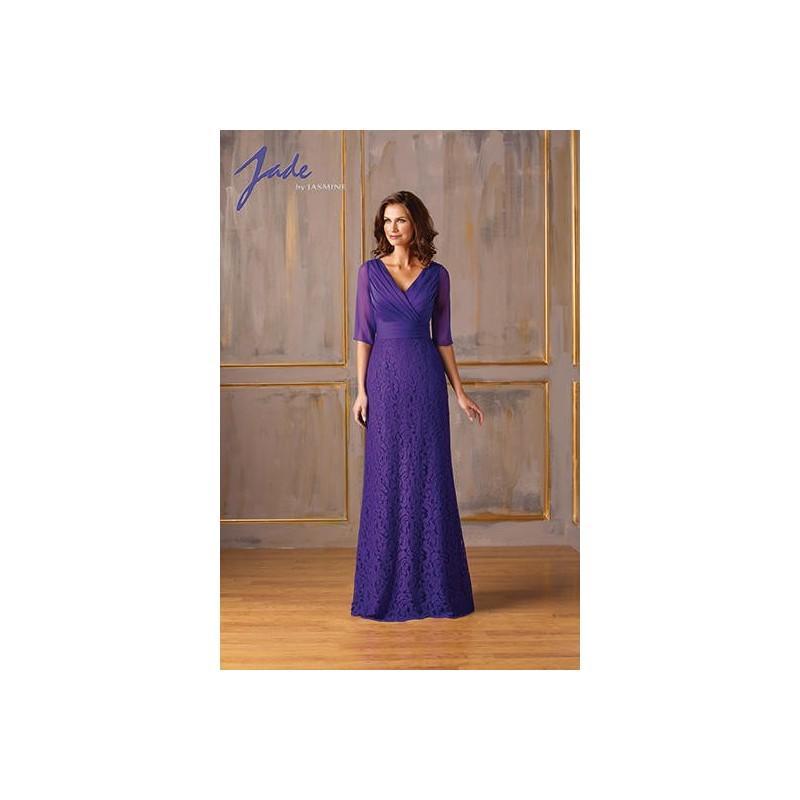 Wedding - Grape Jasmine Jade Mothers Gowns Long Island Jade by Jasmine J175008 Jade by Jasmine - Top Design Dress Online Shop