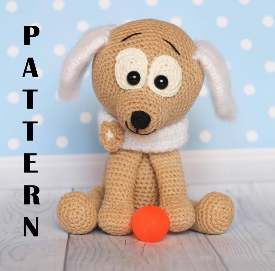 Wedding - PATTERN Crochet dog pattern, amigurumi puppy pattern, amigurumi dog pattern, PDF crochet pattern, crochet animal pattern
