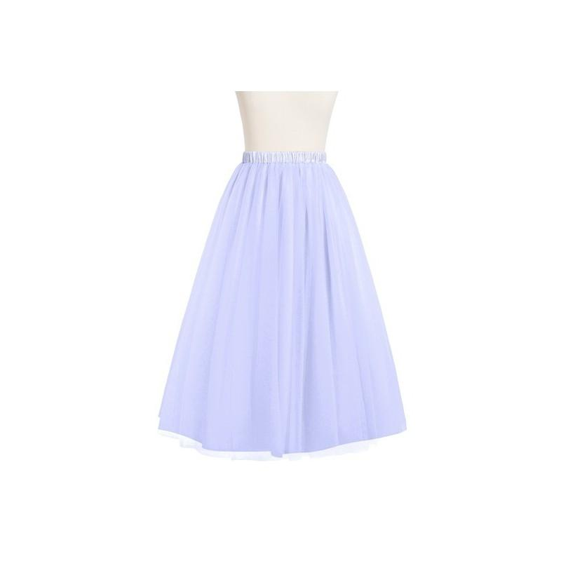 Wedding - Lavender Azazie Katerina - Tulle And Charmeuse Tea Length Dress - Charming Bridesmaids Store