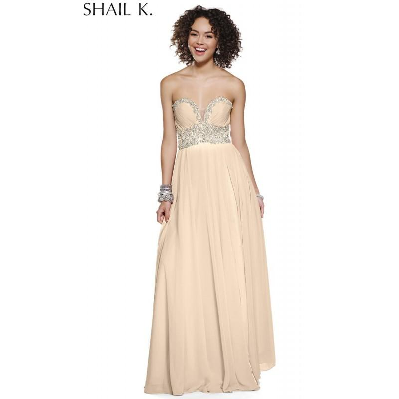 Wedding - Shail K. 3903 Nude,Red Dress - The Unique Prom Store