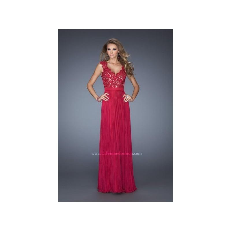 Mariage - La Femme 19846 Formal Dress with Lace Straps - Brand Prom Dresses