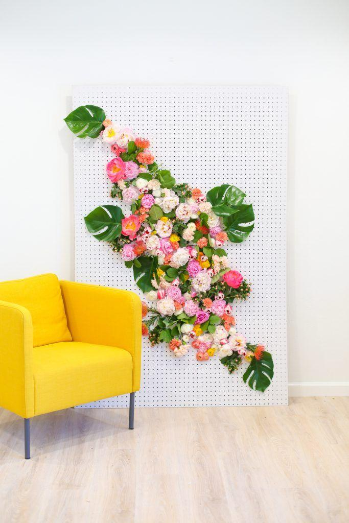 Wedding - DIY Floral Photo Backdrop