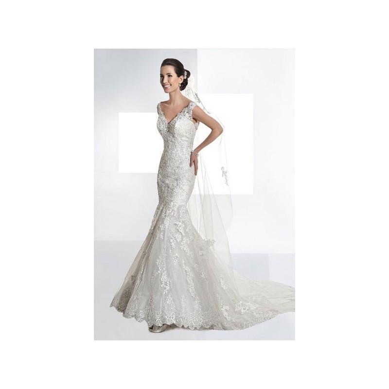 Wedding - Vestido de novia de Demetrios Modelo 1453 - 2014 Sirena Pico Vestido - Tienda nupcial con estilo del cordón