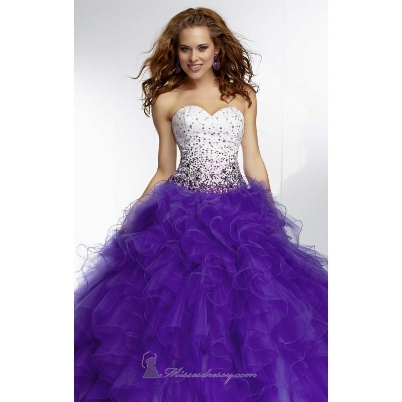 Wedding - 2014 Cheap Ruffled Tulle skirt by Paparazzi by Mori Lee 95119 Dress - Cheap Discount Evening Gowns
