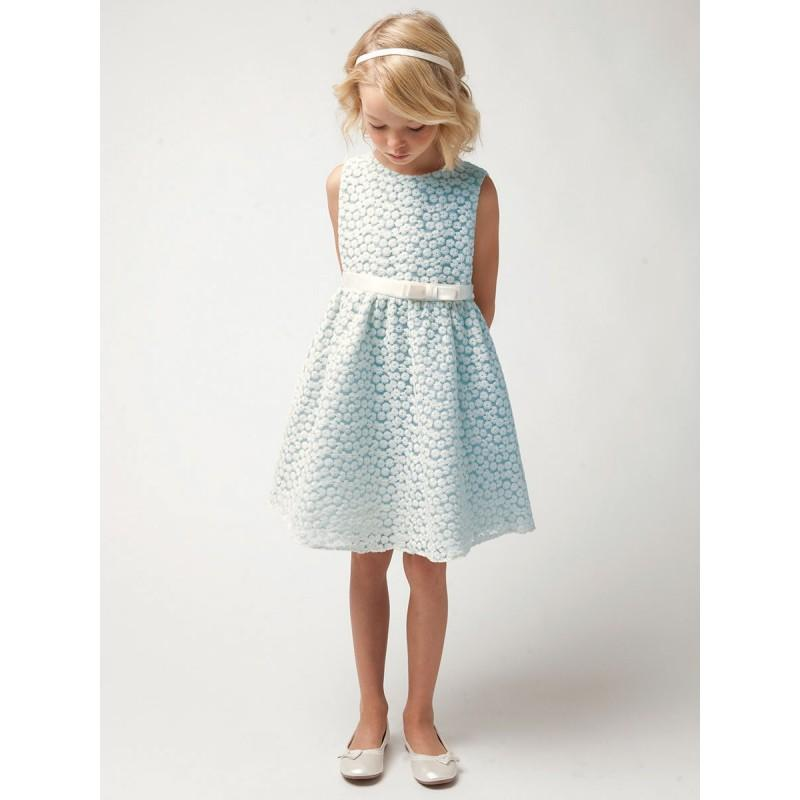 Wedding - Light Blue Small Flower Embroidery Mesh Dress Style: DSK471 - Charming Wedding Party Dresses