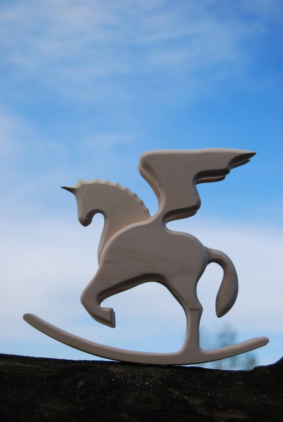 Свадьба - romantic gifts for daughter gift for horse lover rocking horse art cutout wood unicorn wings horse decor wooden toys gifts for daughter gift