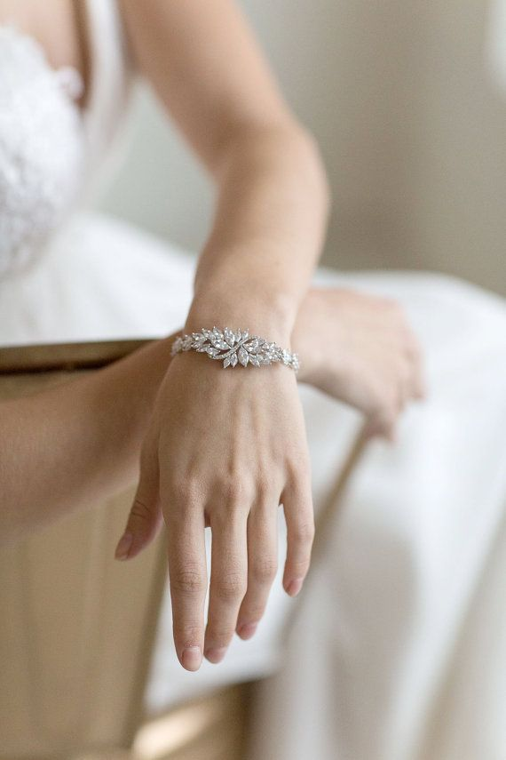 Wedding - Wedding Bracelet, Cubic Zirconia Bracelet, Bridal Bracelet