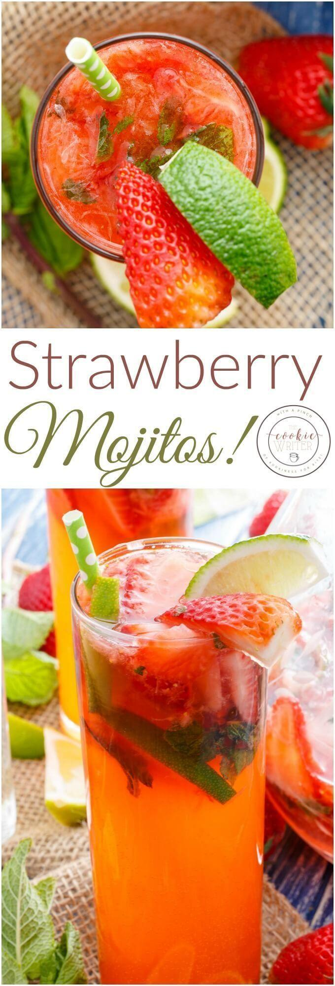 Wedding - Fresh Strawberry Mojitos