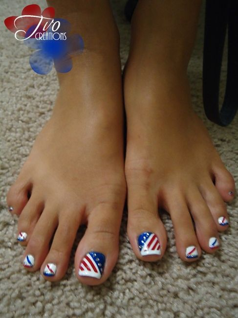 زفاف - 4th Of July Nail Photos