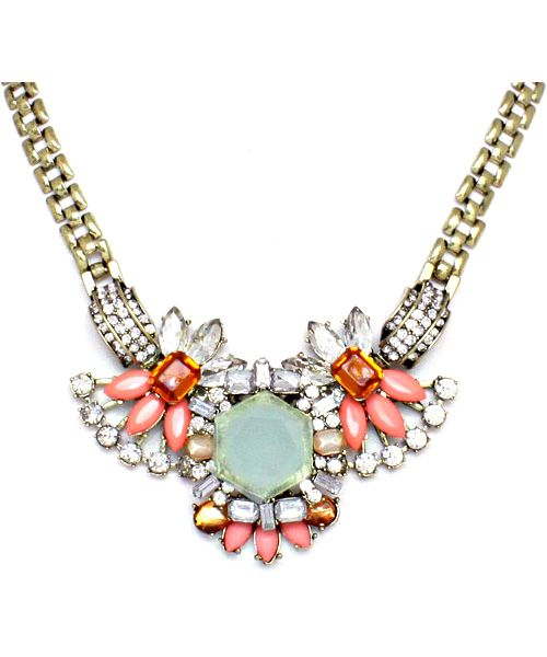 Wedding - Sandra Necklace In Soft Mint