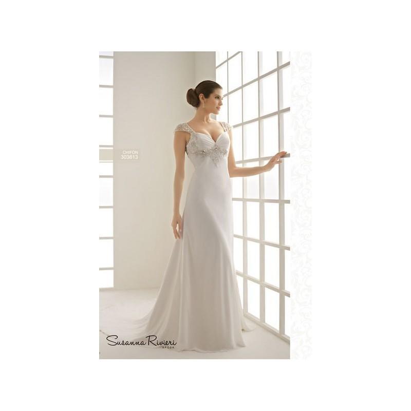Wedding - Vestido de novia de Susanna Rivieri Modelo 12 - 2014 Evasé Tirantes Vestido - Tienda nupcial con estilo del cordón