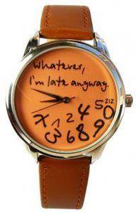 Wedding - ZIZ Orange/Brown 'Whatever, I'm Late Anyway' Watch ZIZ Iz TIME