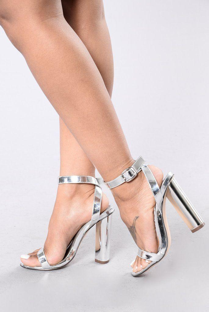 Düğün - Simple And Sleek Heel - Silver
