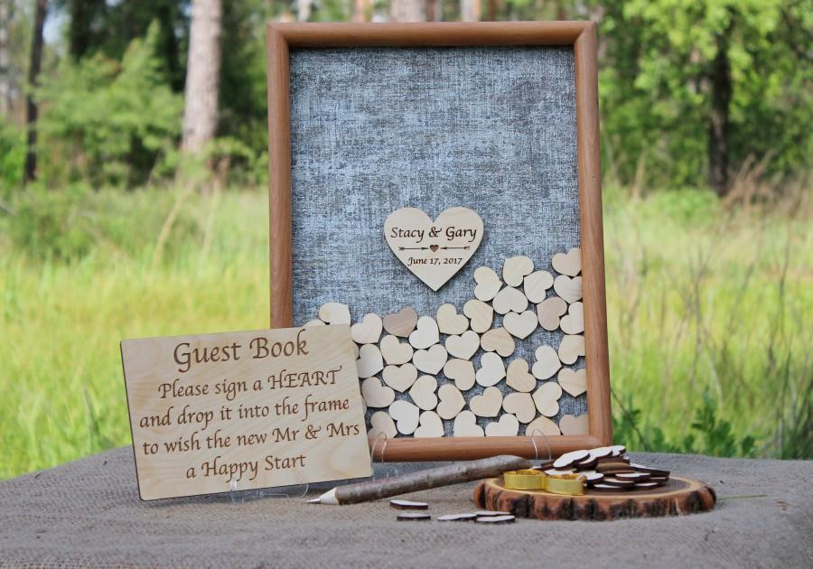 Mariage - Wedding Guest Book,Wedding Guest Book Alternative, Wedding Guestbook , Wedding Drop Top Box,Personalized Wedding Gift,Rustic Guest Book