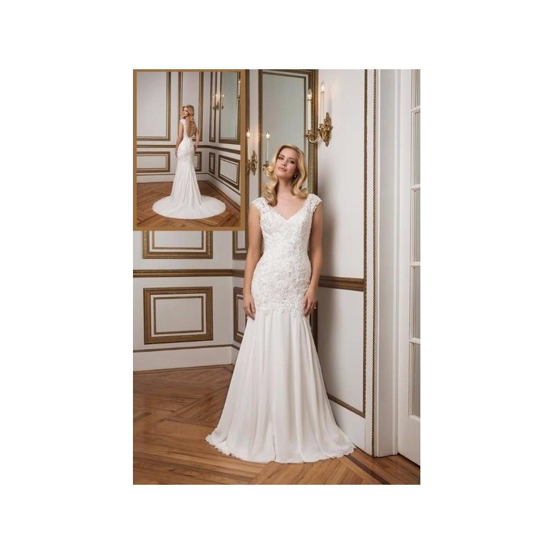 Wedding - Vestido de novia de Justin Alexander Modelo 8834 - 2016 Sirena Otros Vestido - Tienda nupcial con estilo del cordón