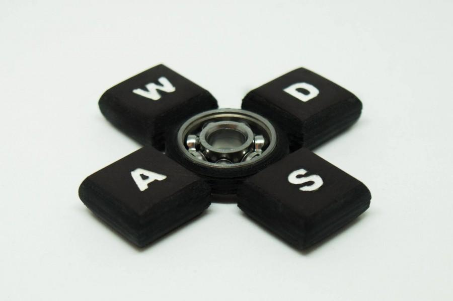 Wedding - Fidget Toy Keyboard Styled Black Hand Spinner