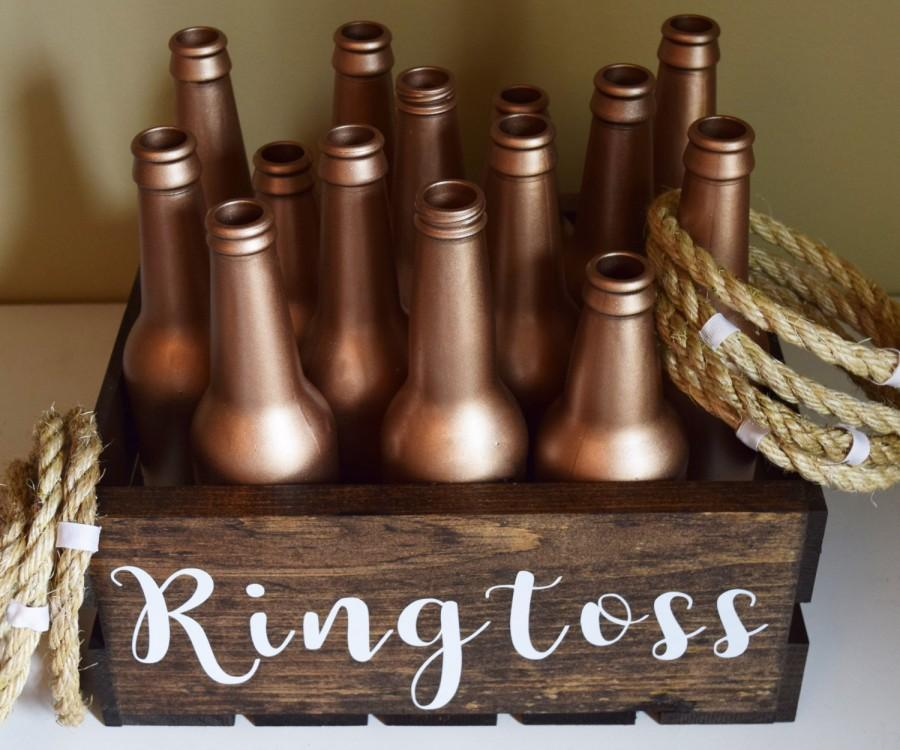 Hochzeit - Ring Toss Ringtoss Personalized Customized Rose Gold Wedding Over sized Big Outdoor Wedding Yard Lawn Game!