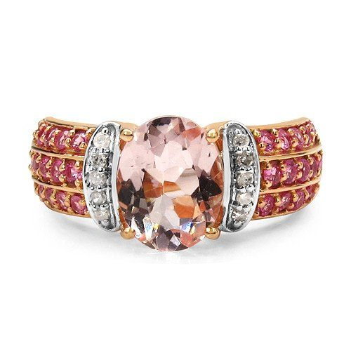 Свадьба - A Perfect 2.76CT Oval Cut Genuine Morganite Pink Sapphire Rose Gold Engagement Ring