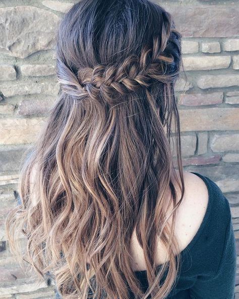 Wedding - Beautiful Braid Half Up And Half Down Hairstyle For Romantic Brides