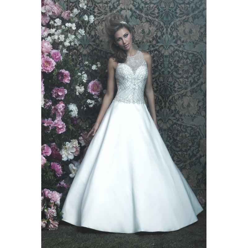 زفاف - Allure Couture Style C411 by Allure Couture - Ivory Mikado Illusion back  High Back Floor Wedding Dresses - Bridesmaid Dress Online Shop