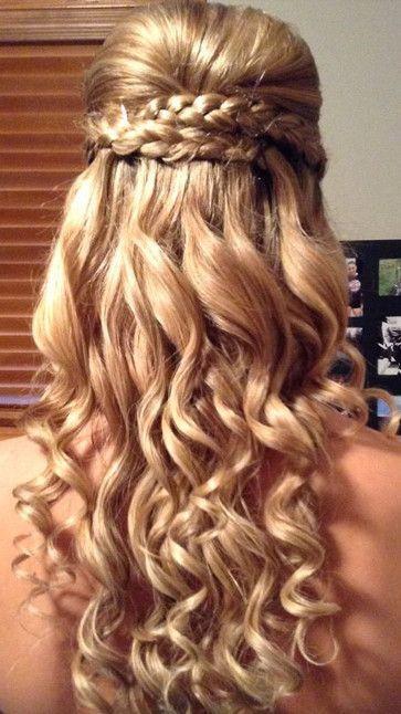 Wedding - Braided Wavy Long Wedding Hairstyle