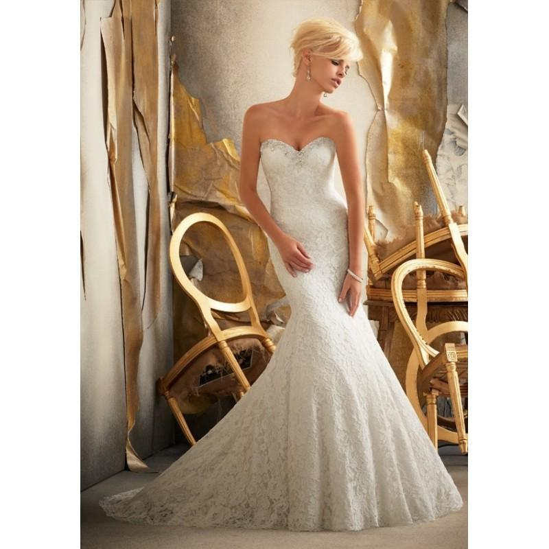 Wedding - Mori Lee 1918 Strapless Lace Mermaid Wedding Dress - Crazy Sale Bridal Dresses