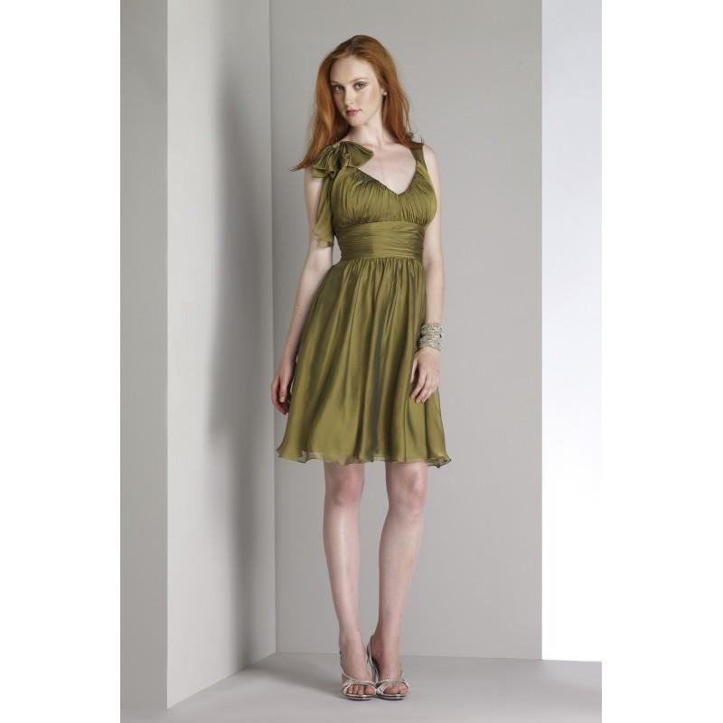 Liz fields short chiffon bridesmaid dress 438 crazy sale for Short wedding dress sale