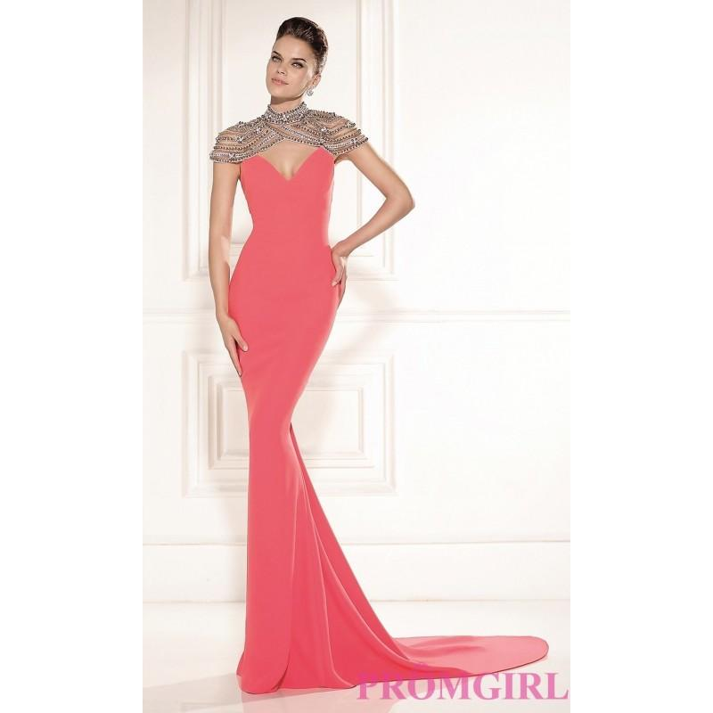 Wedding - Long Tarik Ediz Formal Gown - Brand Prom Dresses