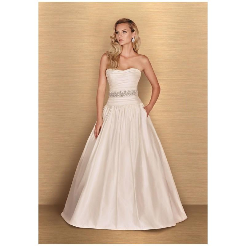 Hochzeit - Paloma Blanca 4654 - A-Line Dropped Floor Cathedral Silk Beading - Formal Bridesmaid Dresses 2017