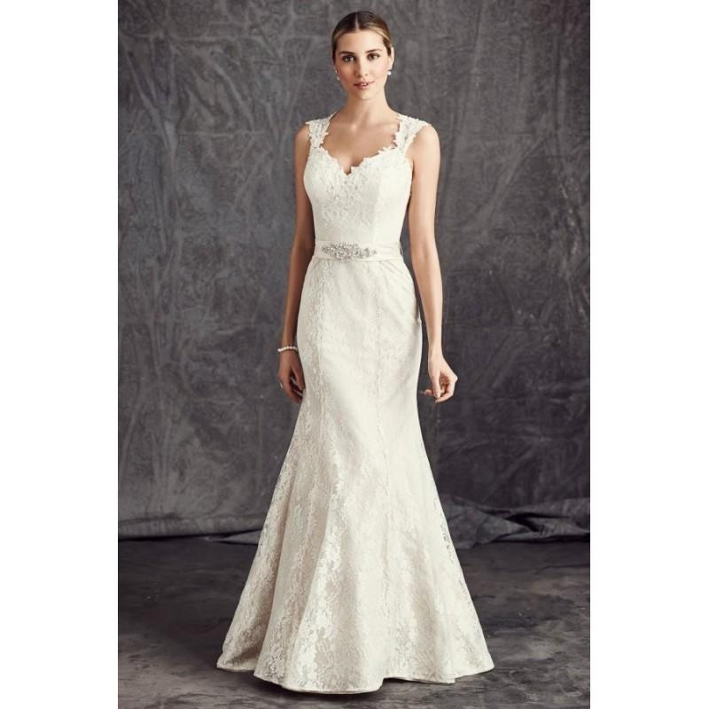 Hochzeit - Style BE289 by Ella Rosa - Sleeveless Mermaid Sweetheart Lace Semi-Cathedral Floor length Dress - 2017 Unique Wedding Shop
