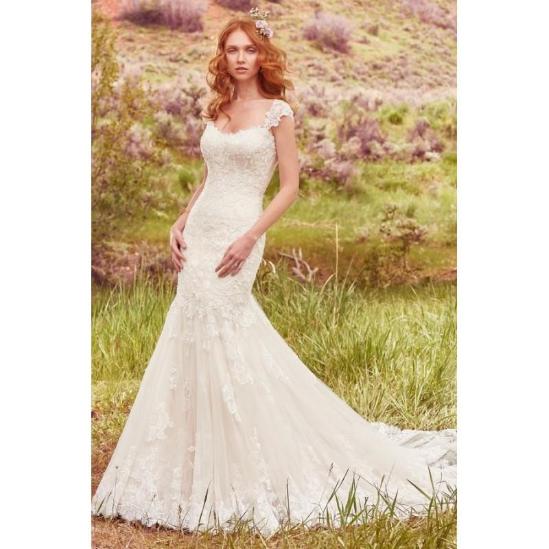 Boda - Style Callie by Maggie Sottero - Fit-n-flare Sweetheart Floor length Cap sleeve LaceTulle Dress - 2017 Unique Wedding Shop