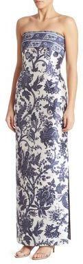 Boda - Oscar de la Renta Floral Silk Gown