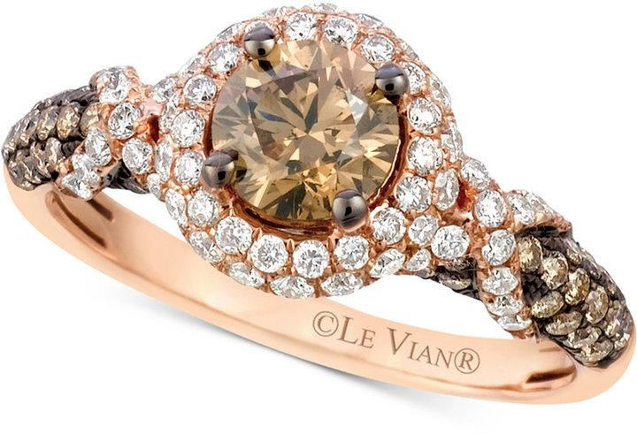 Boda - Le Vian Chocolatier® Diamond Engagement Ring (1-5/8 ct. t.w.) in 14k Rose Gold
