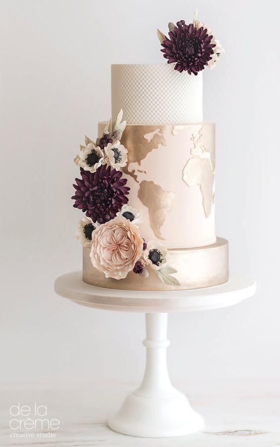 Hochzeit - World Map Wedding Cake
