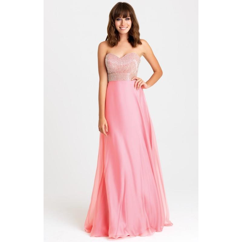 Wedding - Coral Madison James 16-372 Prom Dress 16372 - Chiffon Dress - Customize Your Prom Dress