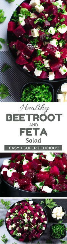 Hochzeit - Beetroot And Feta Cheese Salad