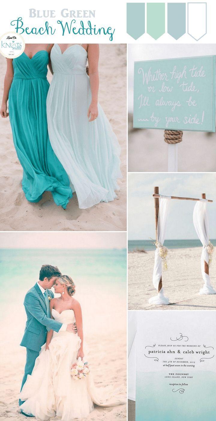 Wedding Theme - Blue Green Beach Wedding Inspiration #2735920 - Weddbook
