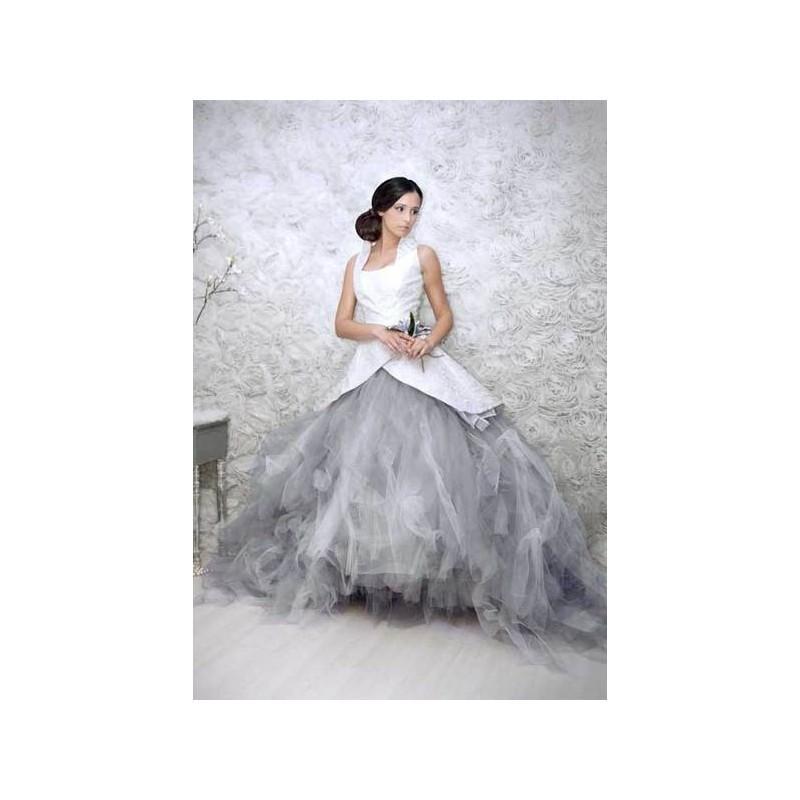 Свадьба - Vestido de novia de Jordi Dalmau Modelo Grey - 2014 Princesa Tirantes Vestido - Tienda nupcial con estilo del cordón