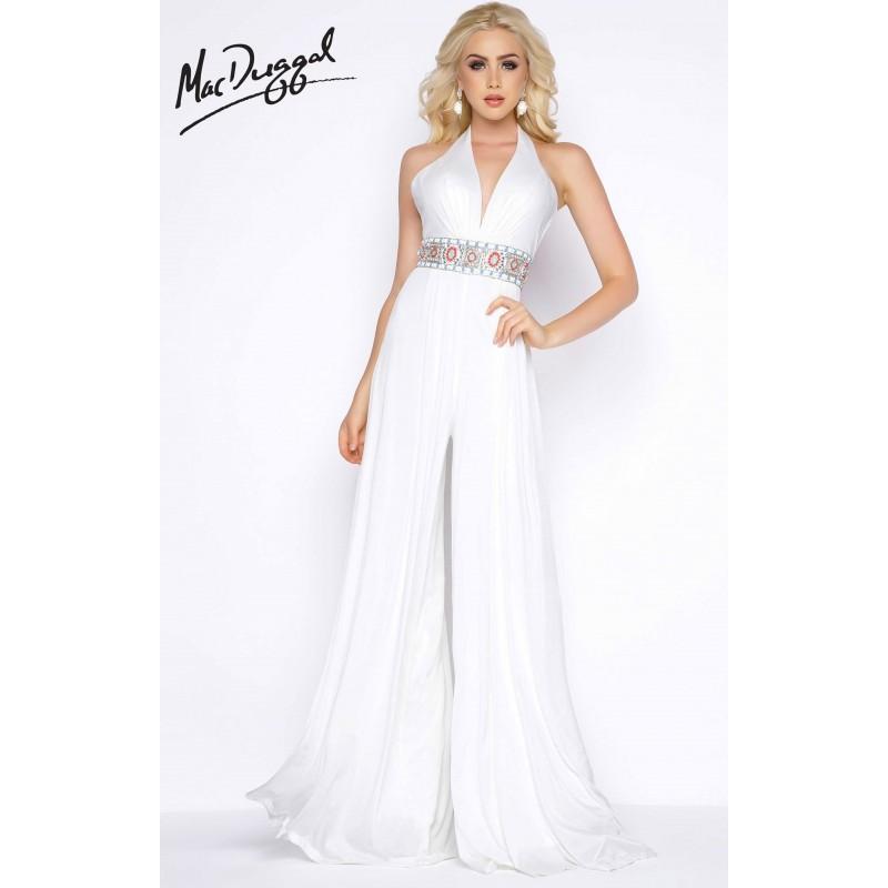 Mariage - Black Multi Cassandra Stone 77214A - Romper Long Dress - Customize Your Prom Dress
