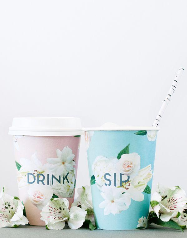 Wedding - Floral Cup Wraps