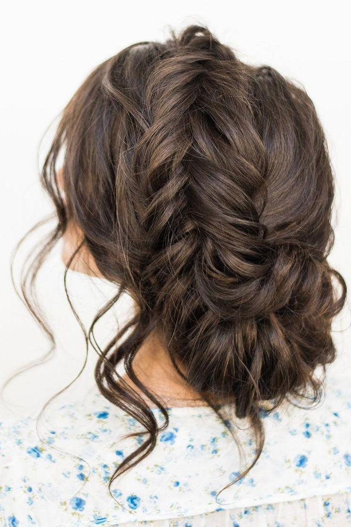 Crown Braid With Messy Updo Wedding Hairstyle Idea 2736323 Weddbook
